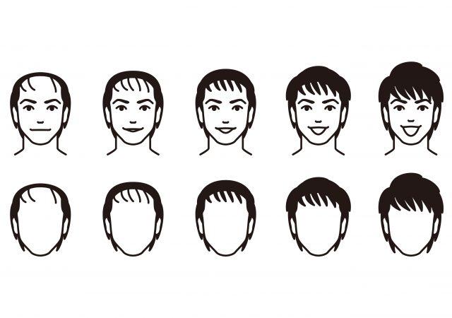 髪型と見た目の変化